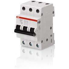 Автомат 3P 10А тип С 4.5 kA ABB SH203L