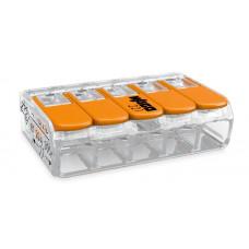 221-415, Клемма 5 контактная компактная 0,2-4 кв. мм