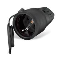 Штепсельный разъем с заглушкой однофазный (каучук)  - UNIVersal